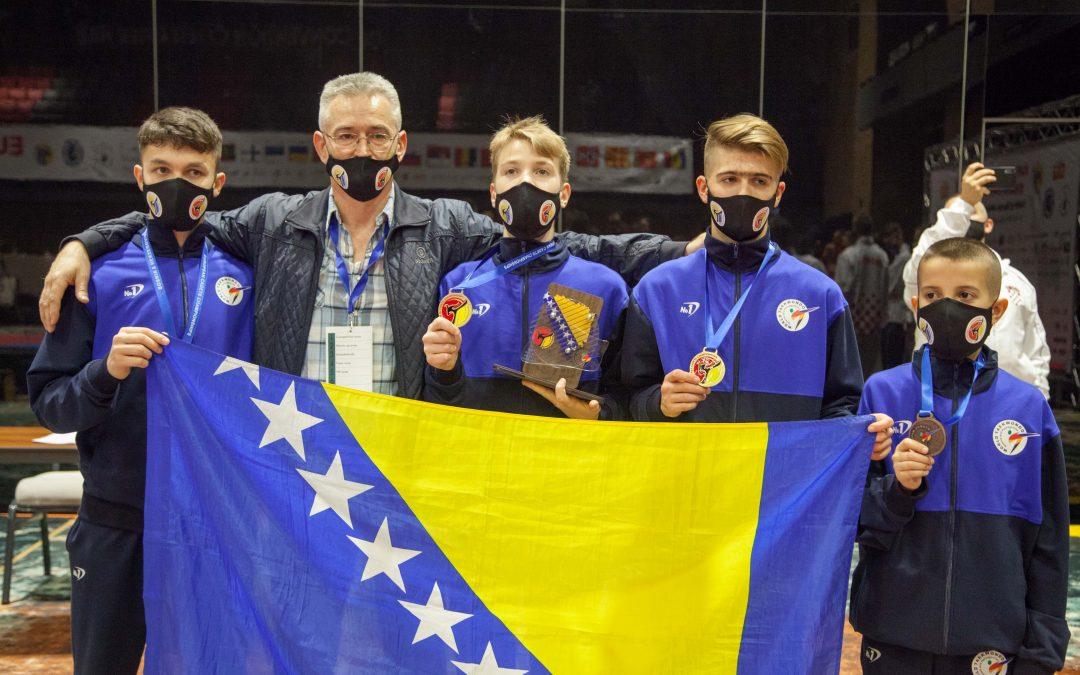 Dvije zlatne medalje za Bosnu i Hercegovinu na evropskom prvenstvu u Taekwondou za kadete