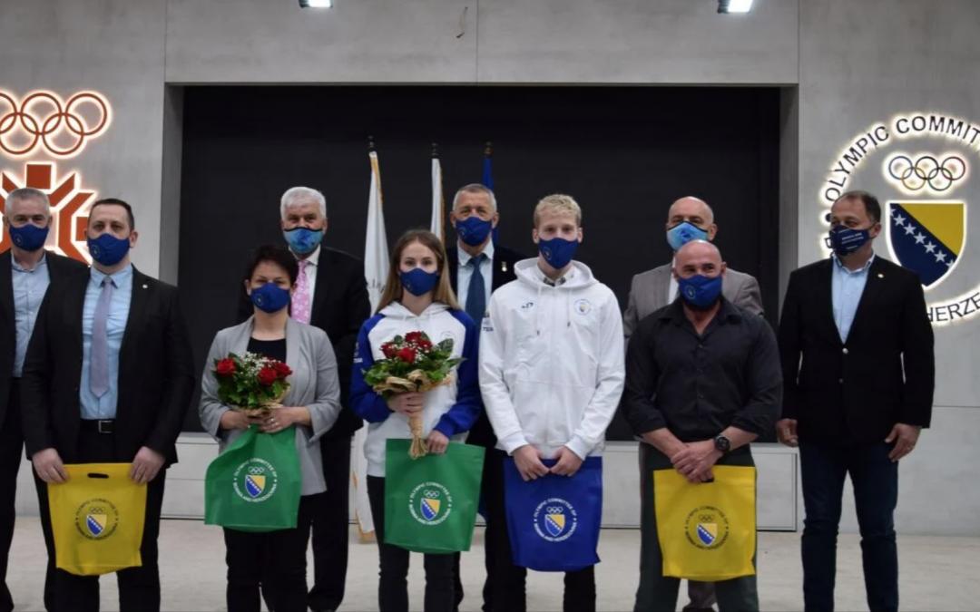 Olimpijski komitet BiH novčano nagradio taekwondoiste Mariju Štetić i Nedžada Husića