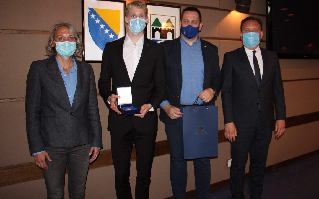 Margetić i Bašić primili Nedžada Husića, srebrenog sa Evropskog taekwondo prvenstva